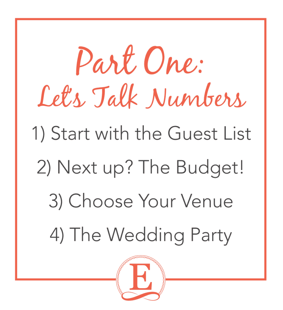 You're Engaged! Now What? Wedding Planning Advice from a Pro at Entwined Events | Forever Entwined Blog | Part One: Let's Talk Numbers